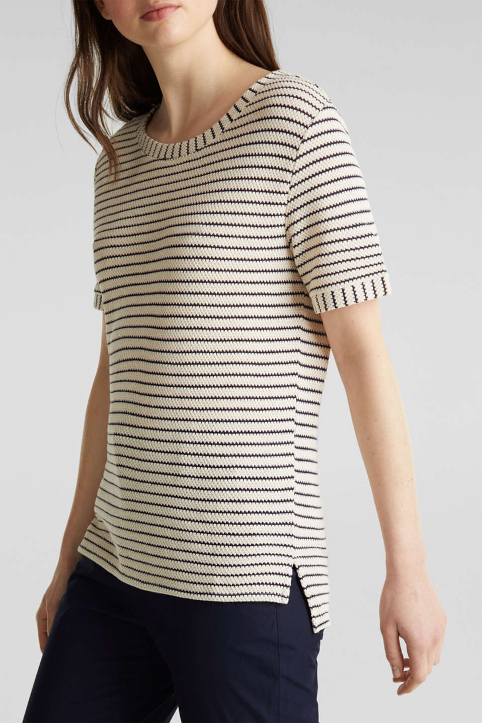Top with textured stripes, SAND, detail image number 6