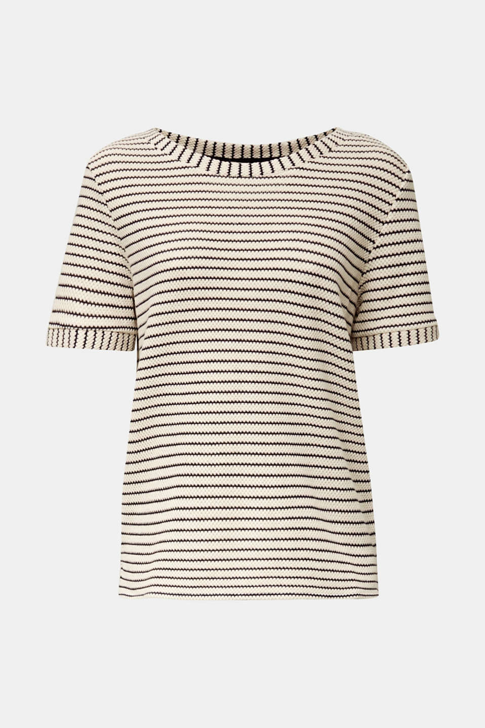 Top with textured stripes, SAND, detail image number 7