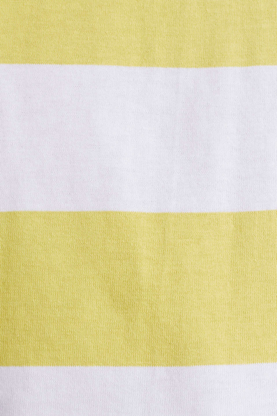 Striped top made of 100% organic cotton, BRIGHT YELLOW 4, detail image number 4