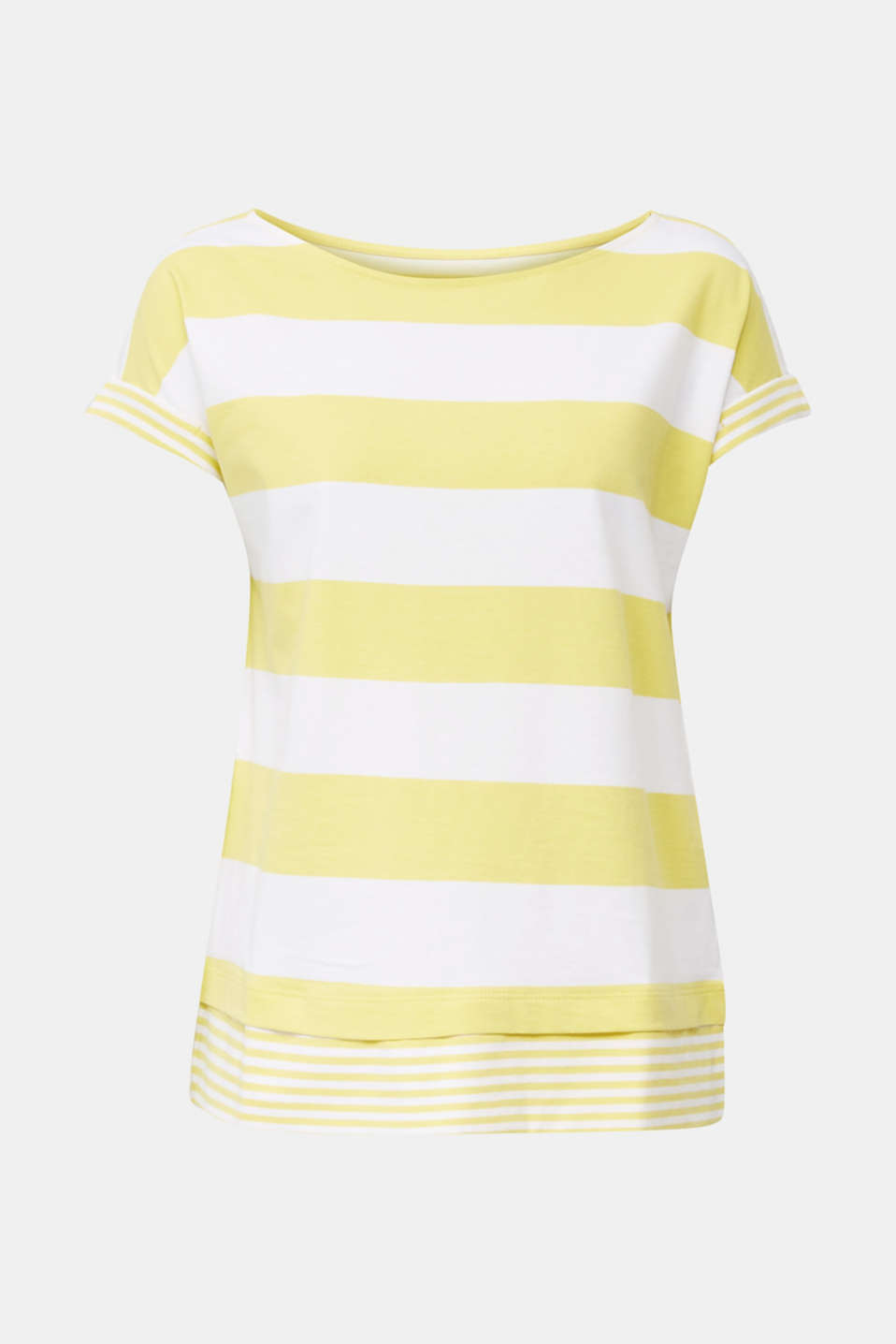 Striped top made of 100% organic cotton, BRIGHT YELLOW 4, detail image number 7