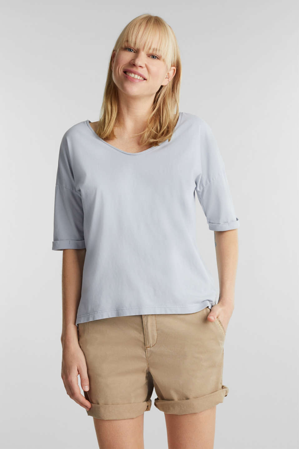 Esprit - EarthColors® cotton T-shirt