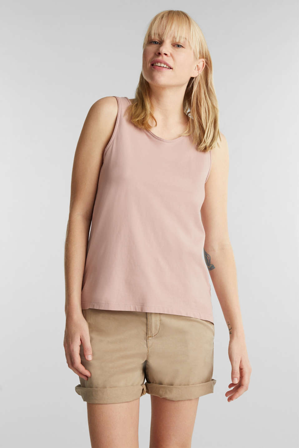 Esprit - EarthColors®: top, organic cotton