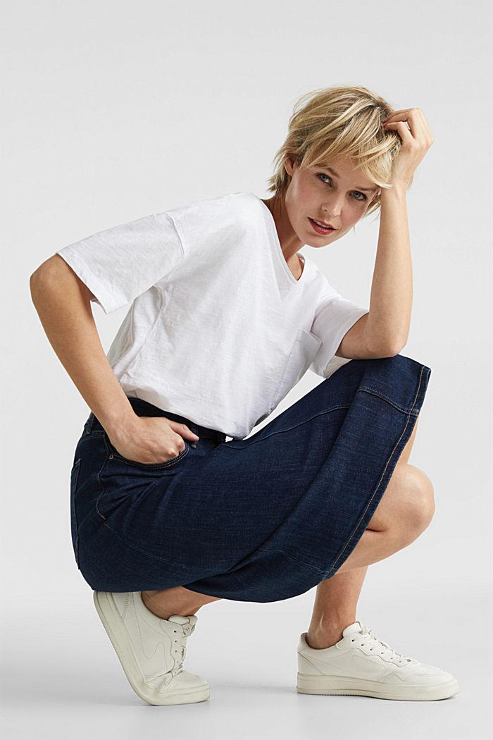 Shirt mit Tasche, 100% Organic Cotton, WHITE, detail image number 5