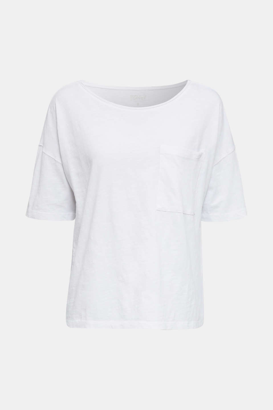 T-shirt with a pocket, 100% organic cotton, WHITE, detail image number 7