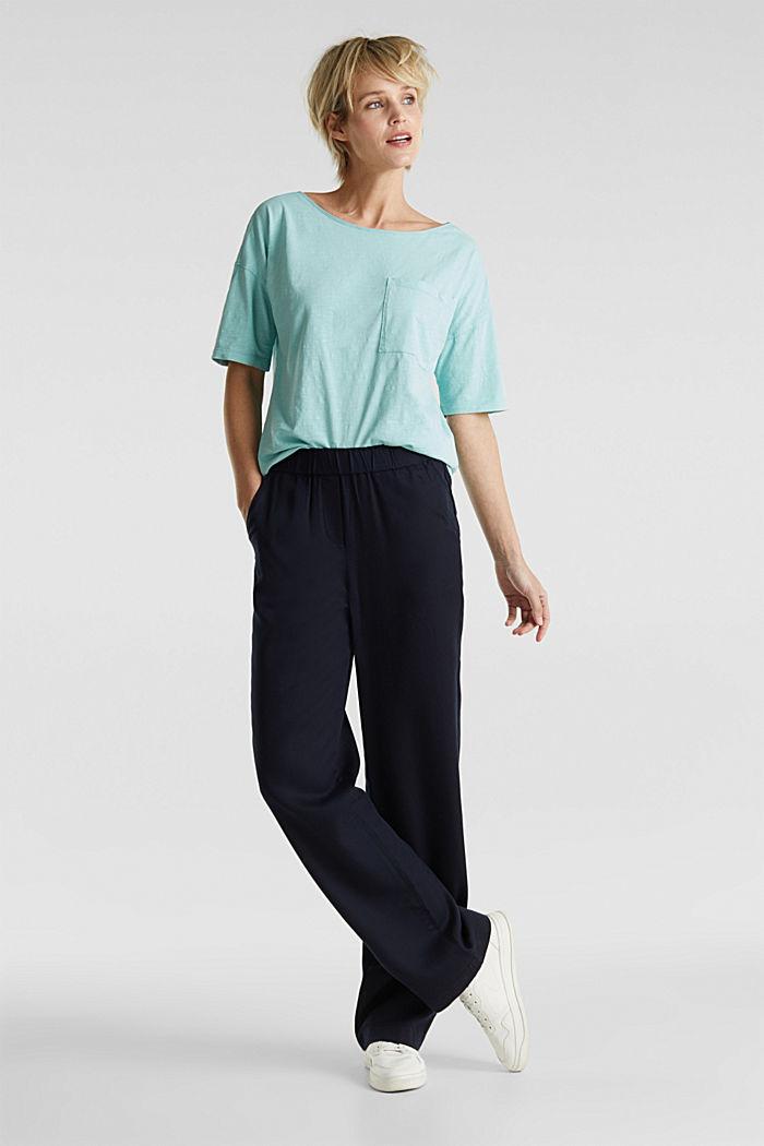 Shirt mit Tasche, 100% Organic Cotton, LIGHT AQUA GREEN, detail image number 1