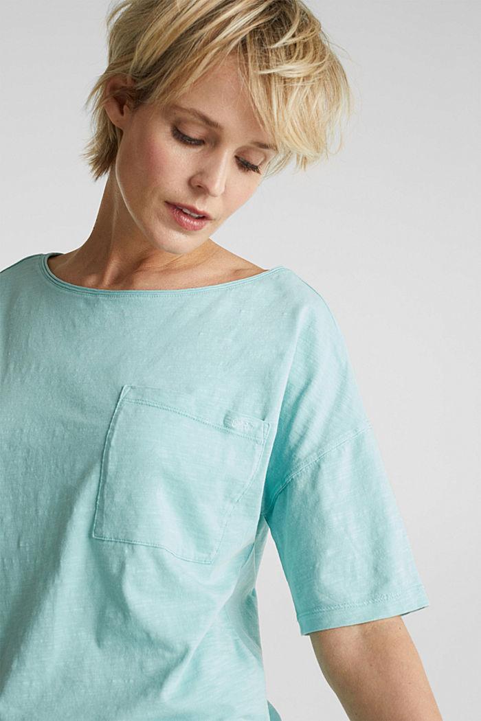 Shirt mit Tasche, 100% Organic Cotton, LIGHT AQUA GREEN, detail image number 2