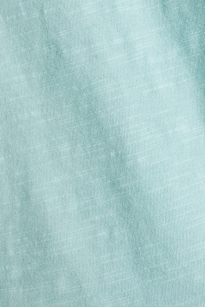 T-shirt with a pocket, 100% organic cotton, LIGHT AQUA GREEN, detail image number 4