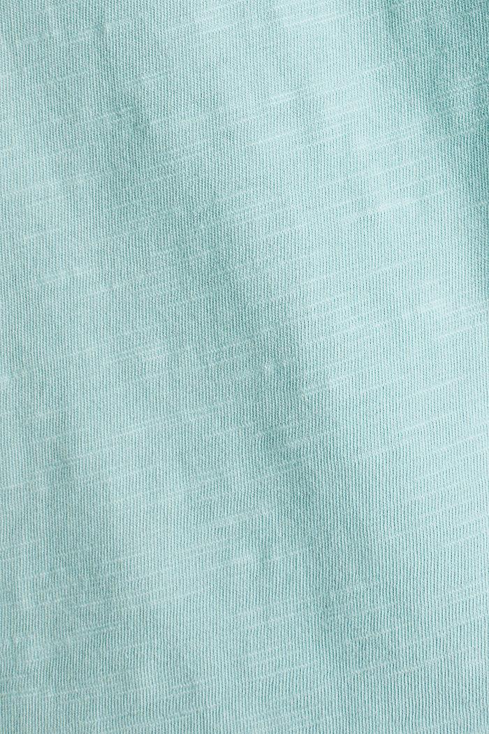 Shirt mit Tasche, 100% Organic Cotton, LIGHT AQUA GREEN, detail image number 4