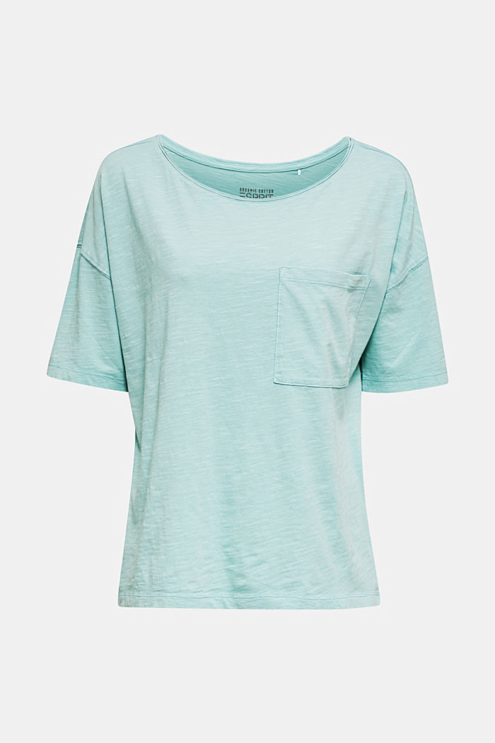 T-shirt with a pocket, 100% organic cotton, LIGHT AQUA GREEN, detail image number 5