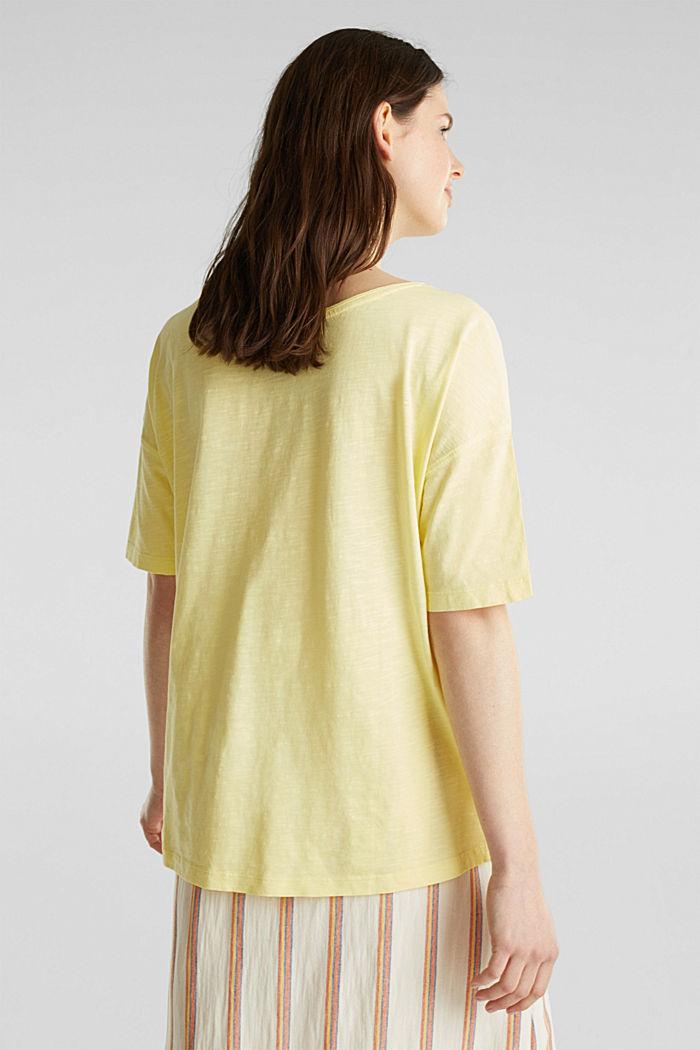 T-shirt à poche, 100% coton biologique, LIME YELLOW, detail image number 3