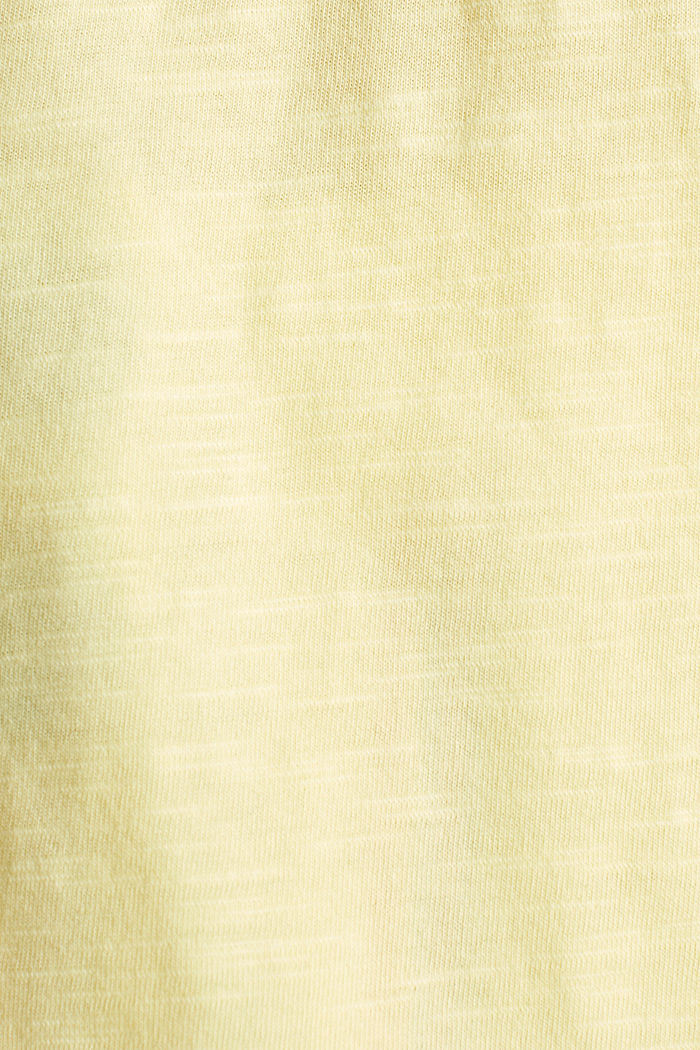 T-shirt à poche, 100% coton biologique, LIME YELLOW, detail image number 4