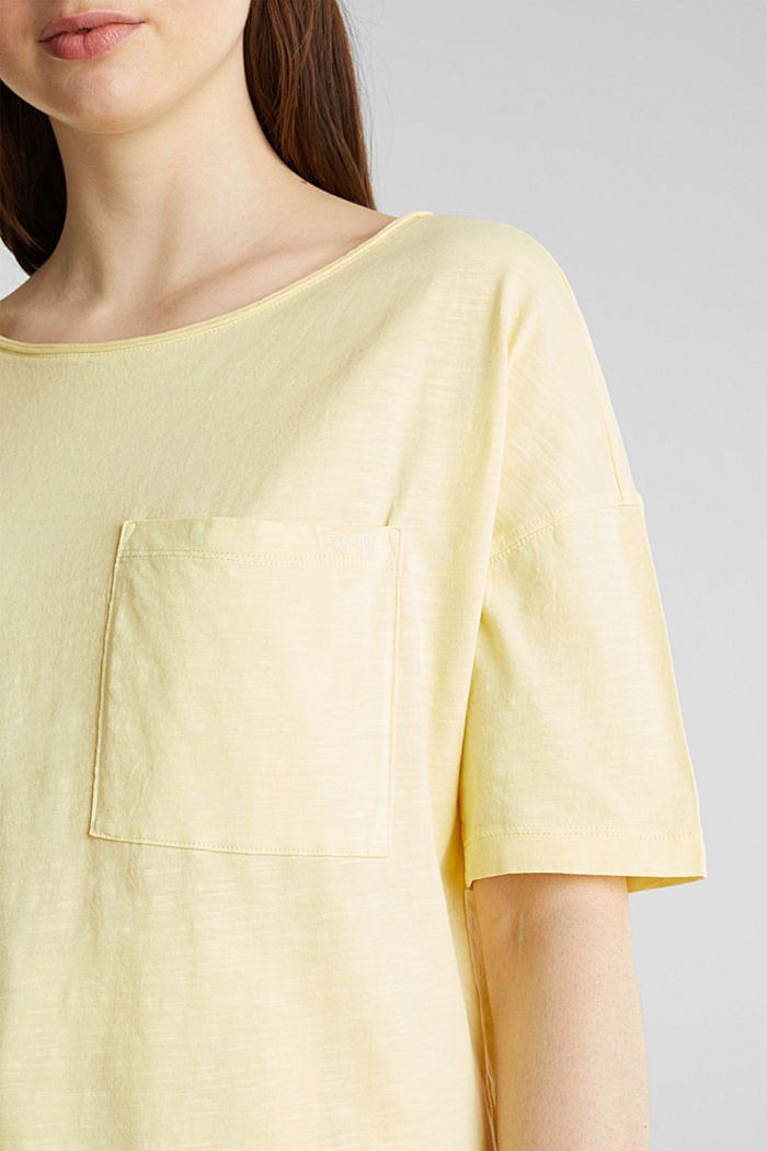 T-shirt with a pocket, 100% organic cotton, LIME YELLOW, detail image number 5