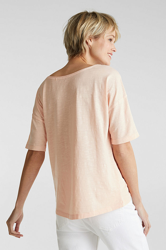 T-shirt with a pocket, 100% organic cotton, PEACH, detail image number 3