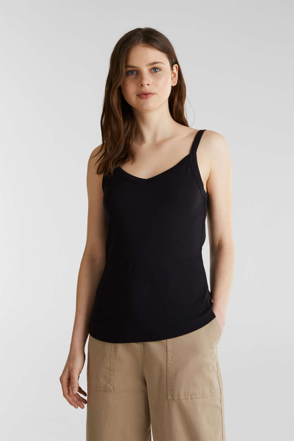 Esprit - Strappy top made of 100% organic cotton