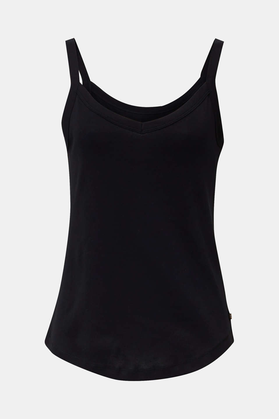 Strappy top made of 100% organic cotton, BLACK, detail image number 6