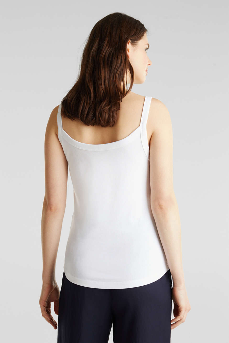 Strappy top made of 100% organic cotton, WHITE, detail image number 3