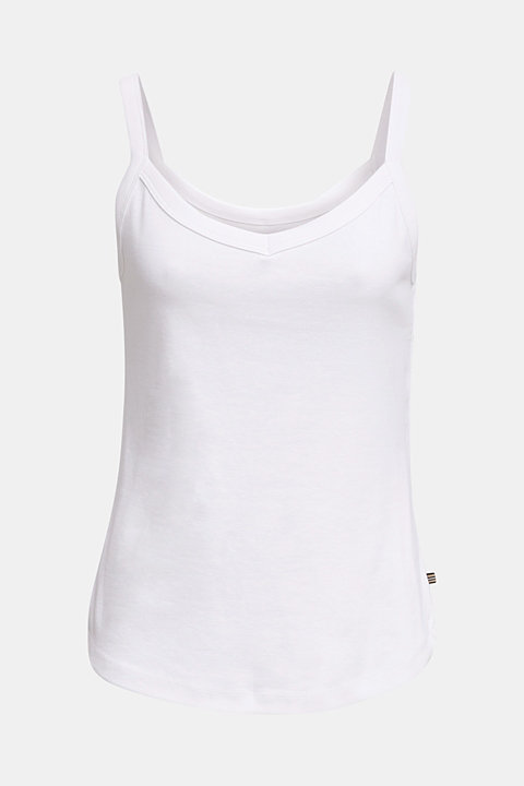 Strappy top made of 100% organic cotton