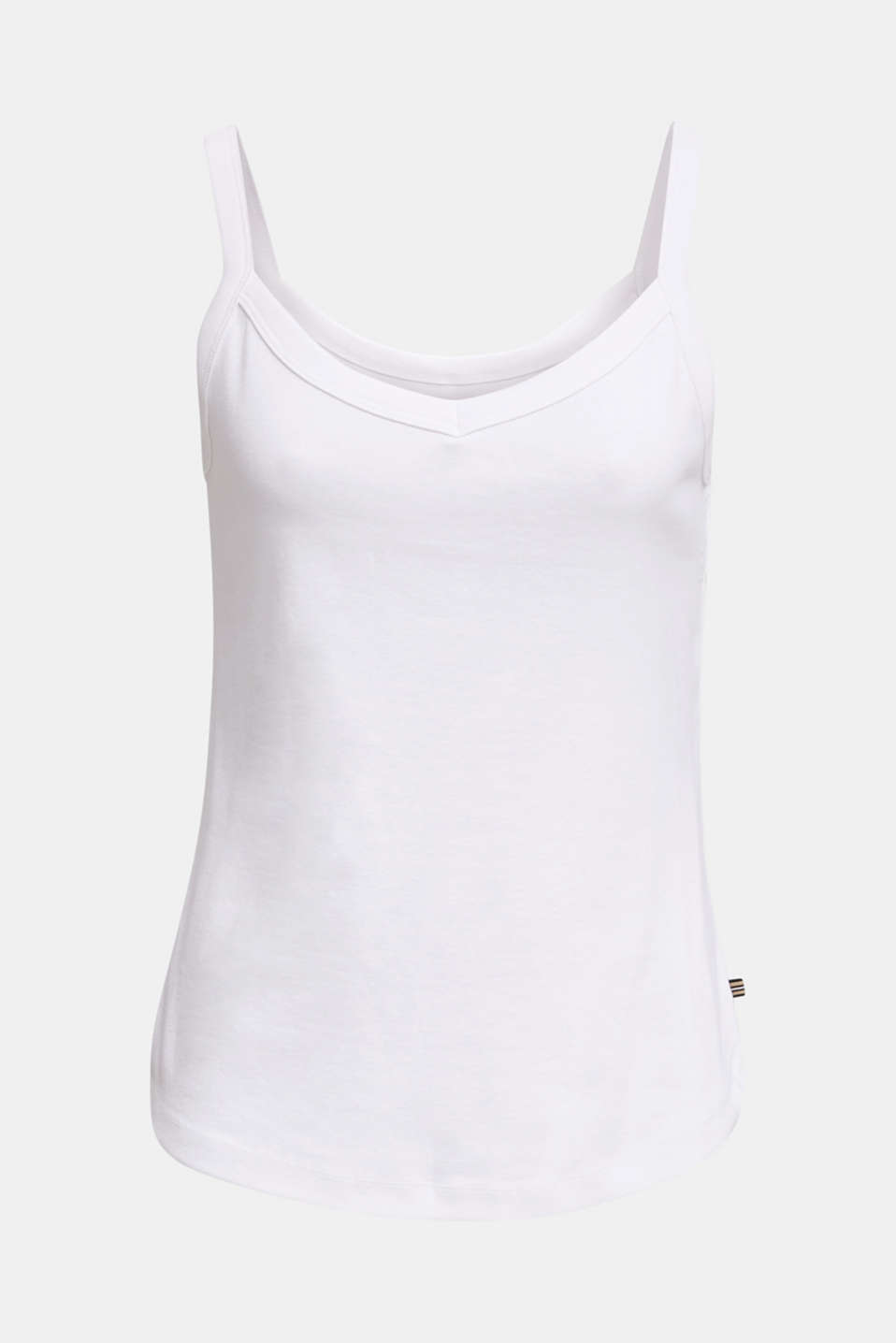Strappy top made of 100% organic cotton, WHITE, detail image number 6
