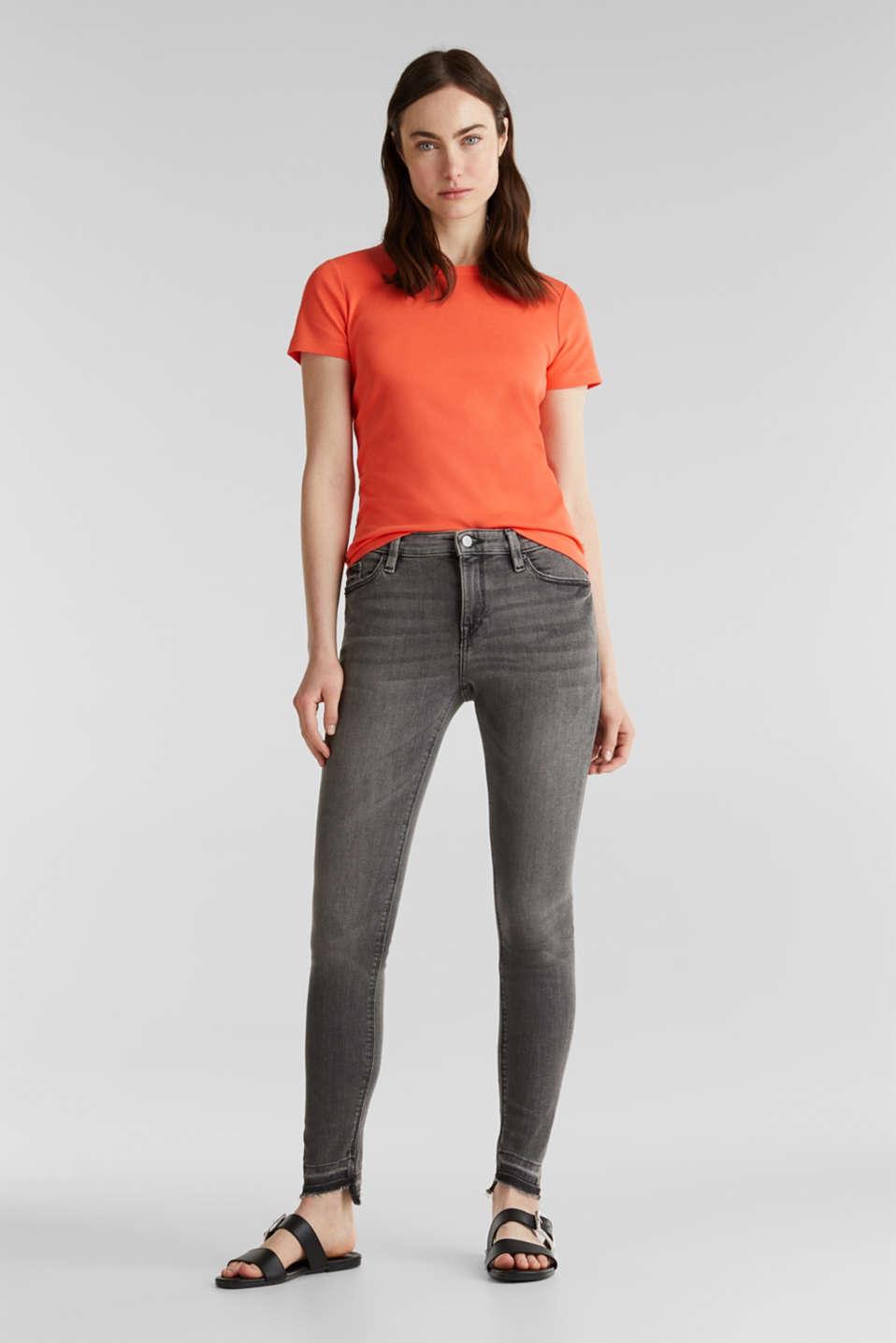Basic T-shirt in 100% organic cotton, CORAL 4, detail image number 1