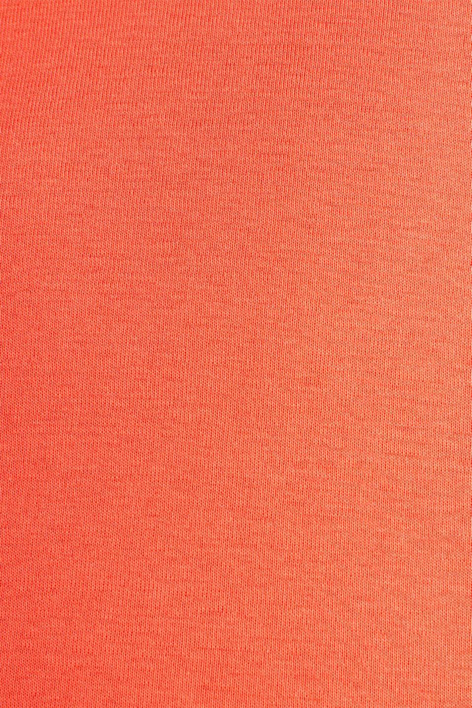 Basic T-shirt in 100% organic cotton, CORAL 4, detail image number 4