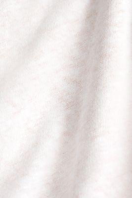 Linen blend: Layered look T-shirt, WHITE, detail