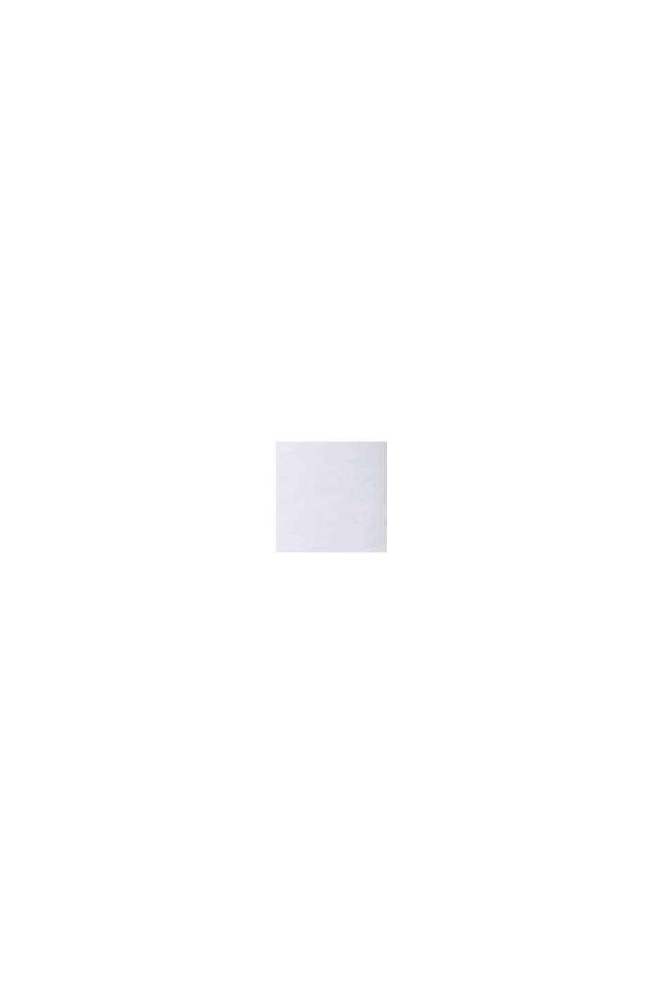Top van een materiaalmix met opengewerkt borduursel, WHITE, swatch
