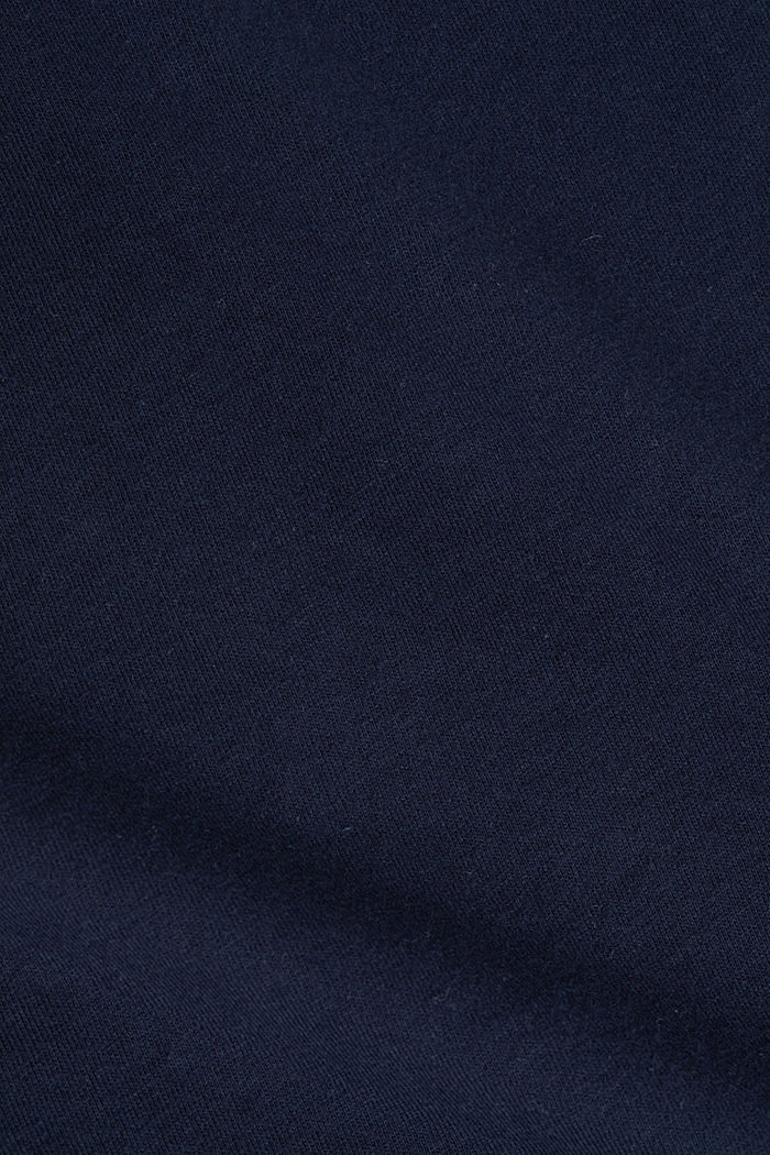 Fabric mix top with broderie anglaise, NAVY, detail image number 4