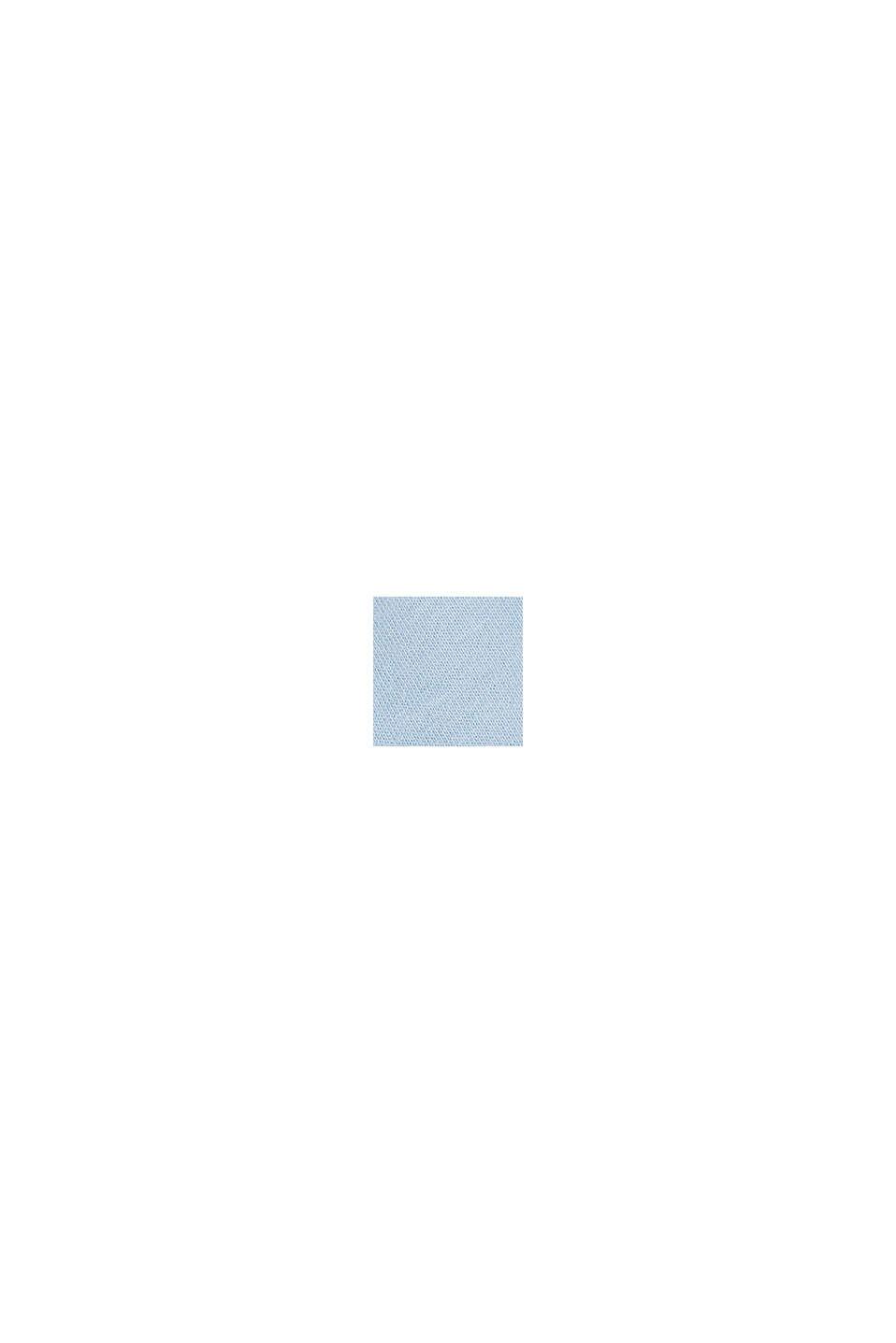 Material-Mix-Top mit Lochstickerei, LIGHT BLUE, swatch