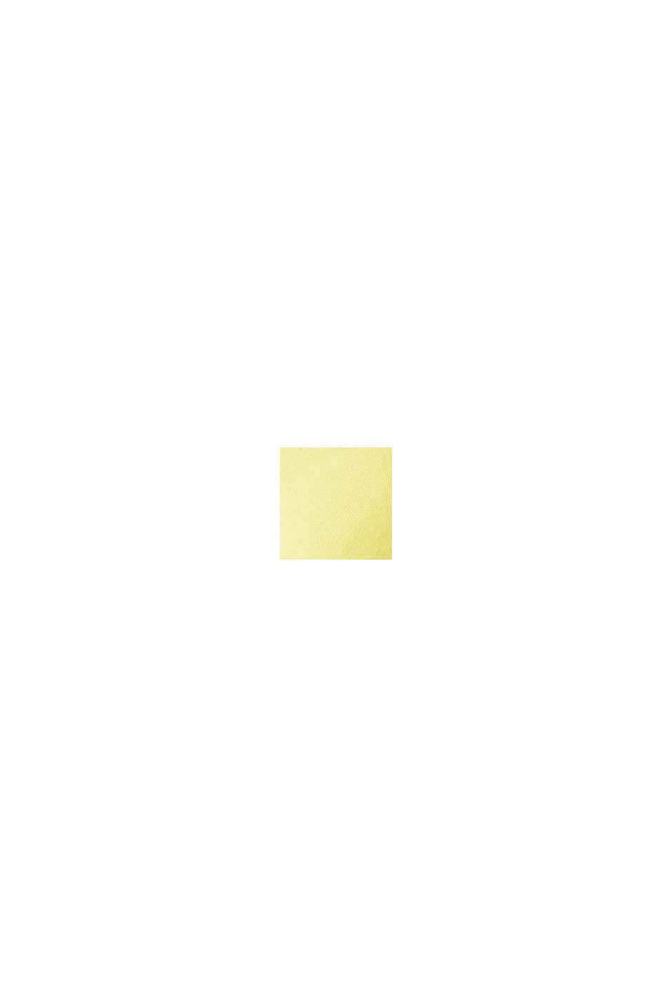 Top van een materiaalmix met opengewerkt borduursel, BRIGHT YELLOW, swatch