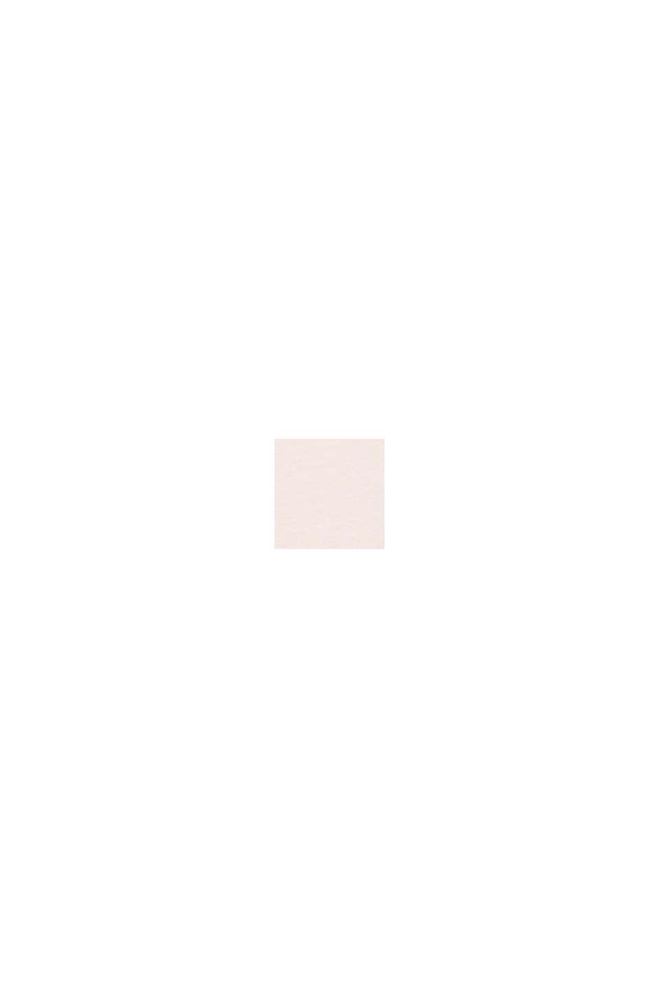 Top van een materiaalmix met opengewerkt borduursel, PEACH, swatch