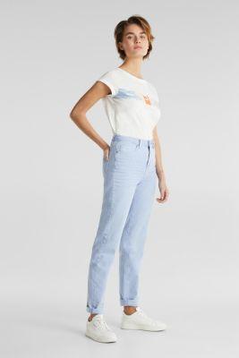 Slub top with logo print, 100% organic cotton, OFF WHITE, detail