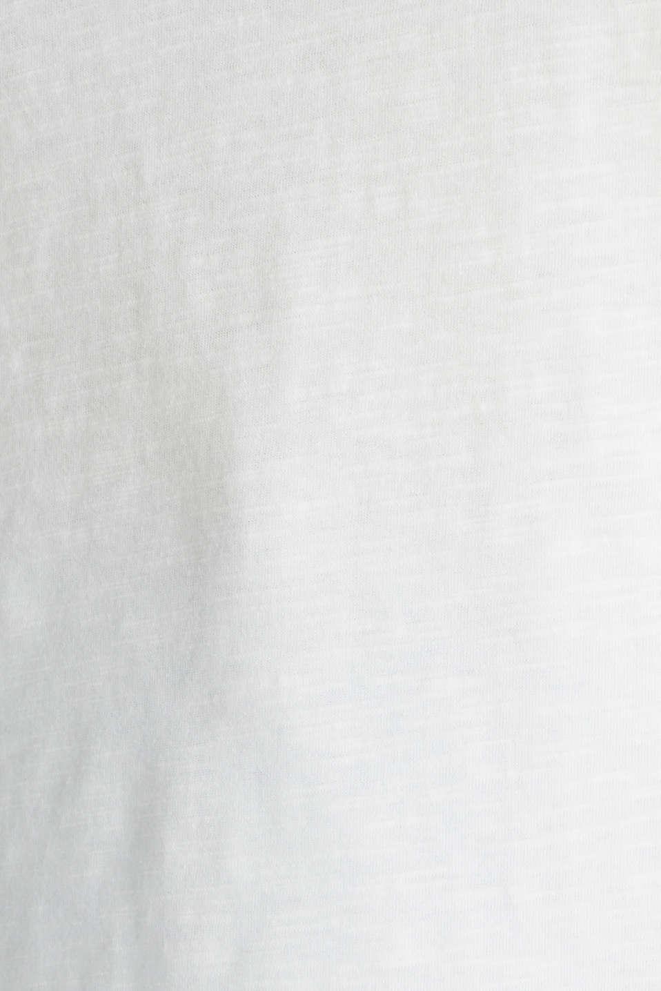 Slub top with logo print, 100% organic cotton, OFF WHITE, detail image number 4