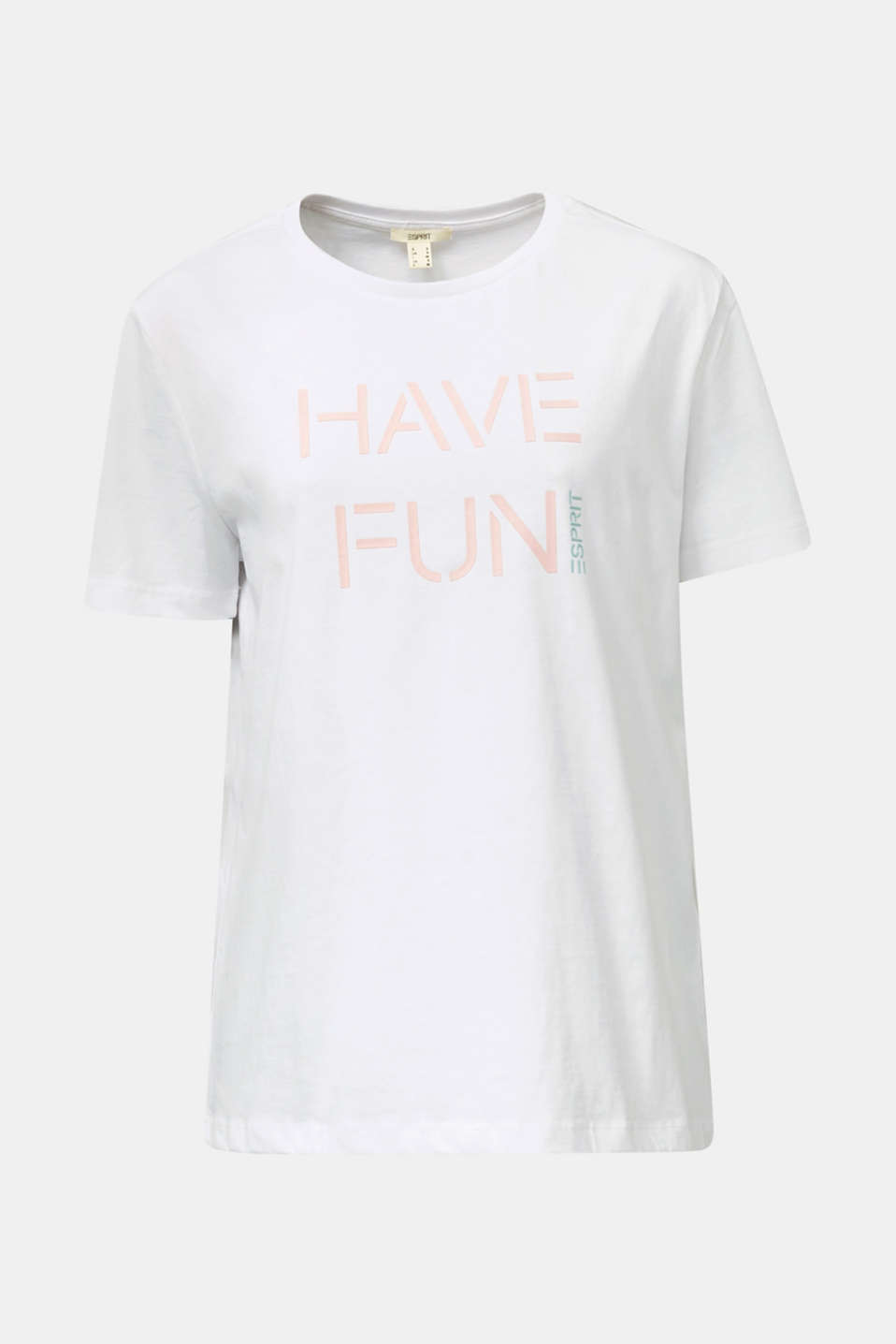 Printed T-shirt in 100% cotton, WHITE, detail image number 5