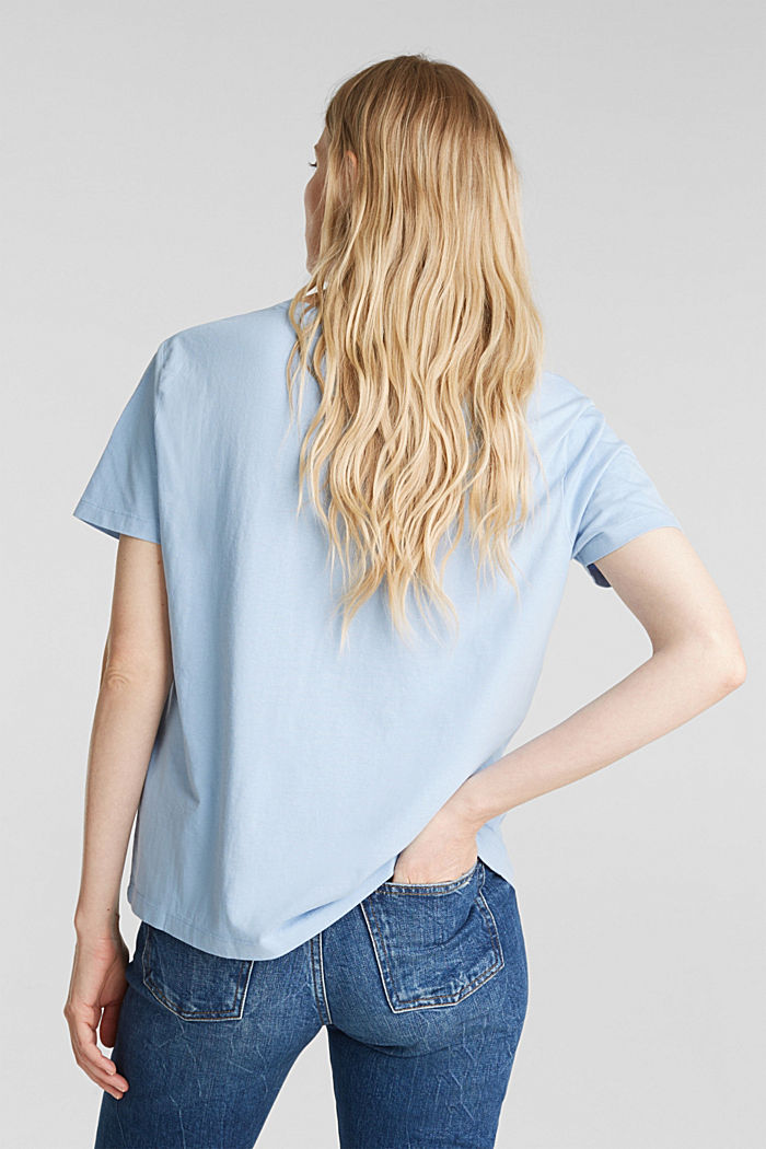 Printed T-shirt in 100% cotton, LIGHT BLUE, detail image number 3