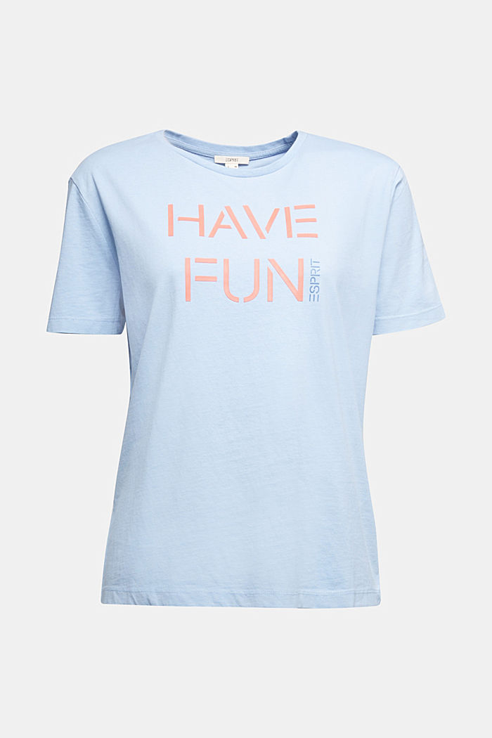 Printed T-shirt in 100% cotton, LIGHT BLUE, detail image number 6
