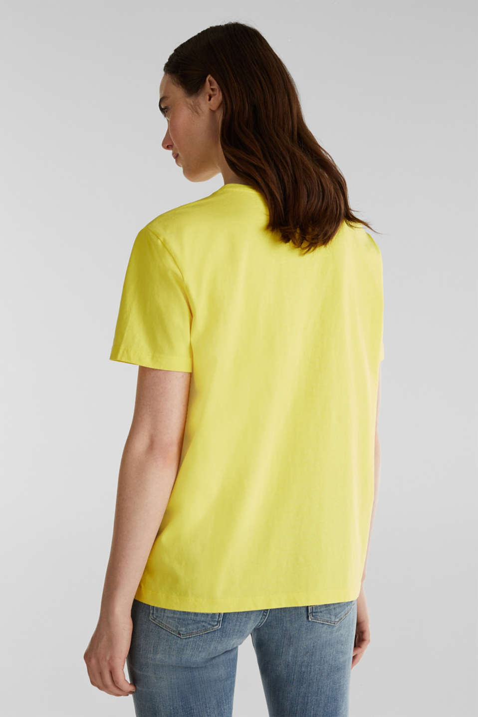 Printed T-shirt in 100% cotton, BRIGHT YELLOW, detail image number 3