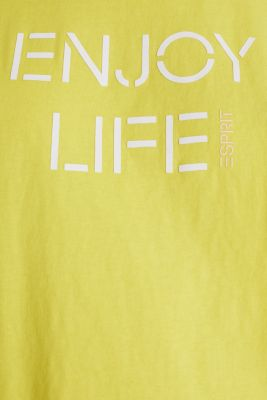 Printed T-shirt in 100% cotton, BRIGHT YELLOW, detail