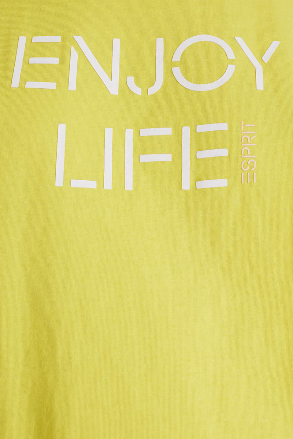 Printed T-shirt in 100% cotton, BRIGHT YELLOW, detail image number 4