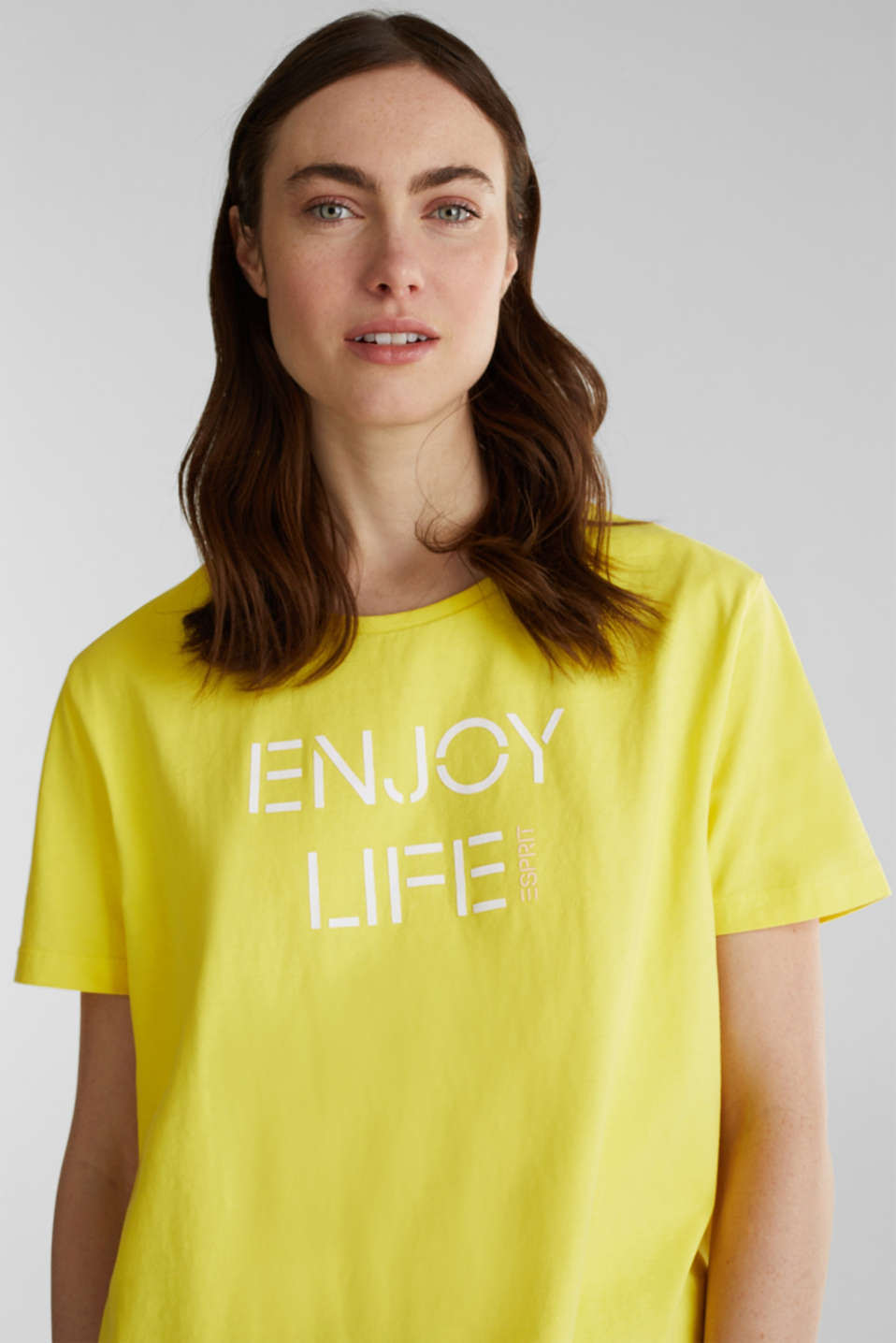 Printed T-shirt in 100% cotton, BRIGHT YELLOW, detail image number 5