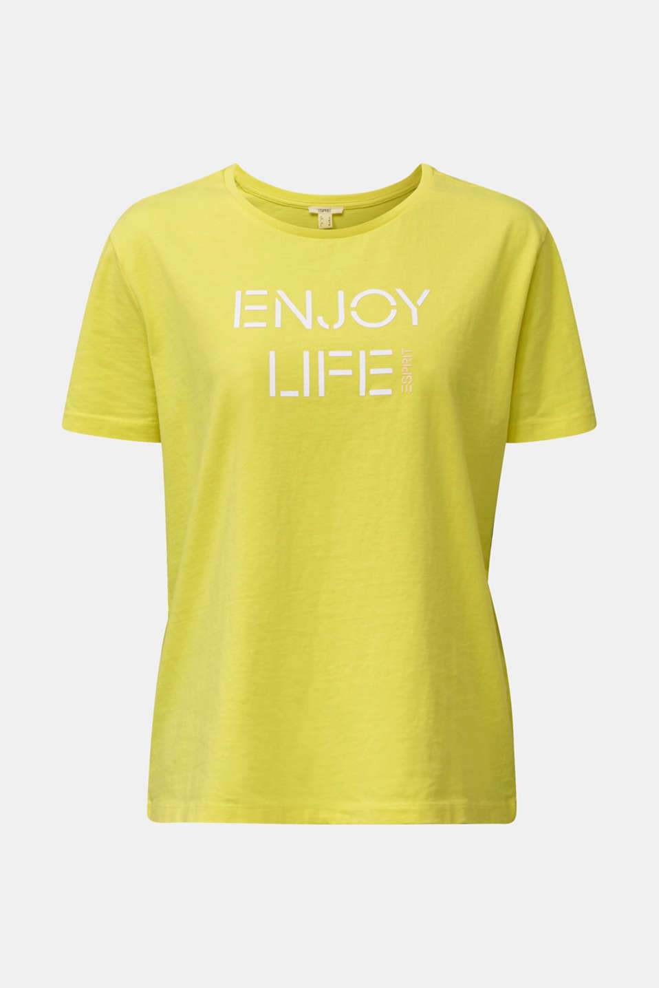 Printed T-shirt in 100% cotton, BRIGHT YELLOW, detail image number 6