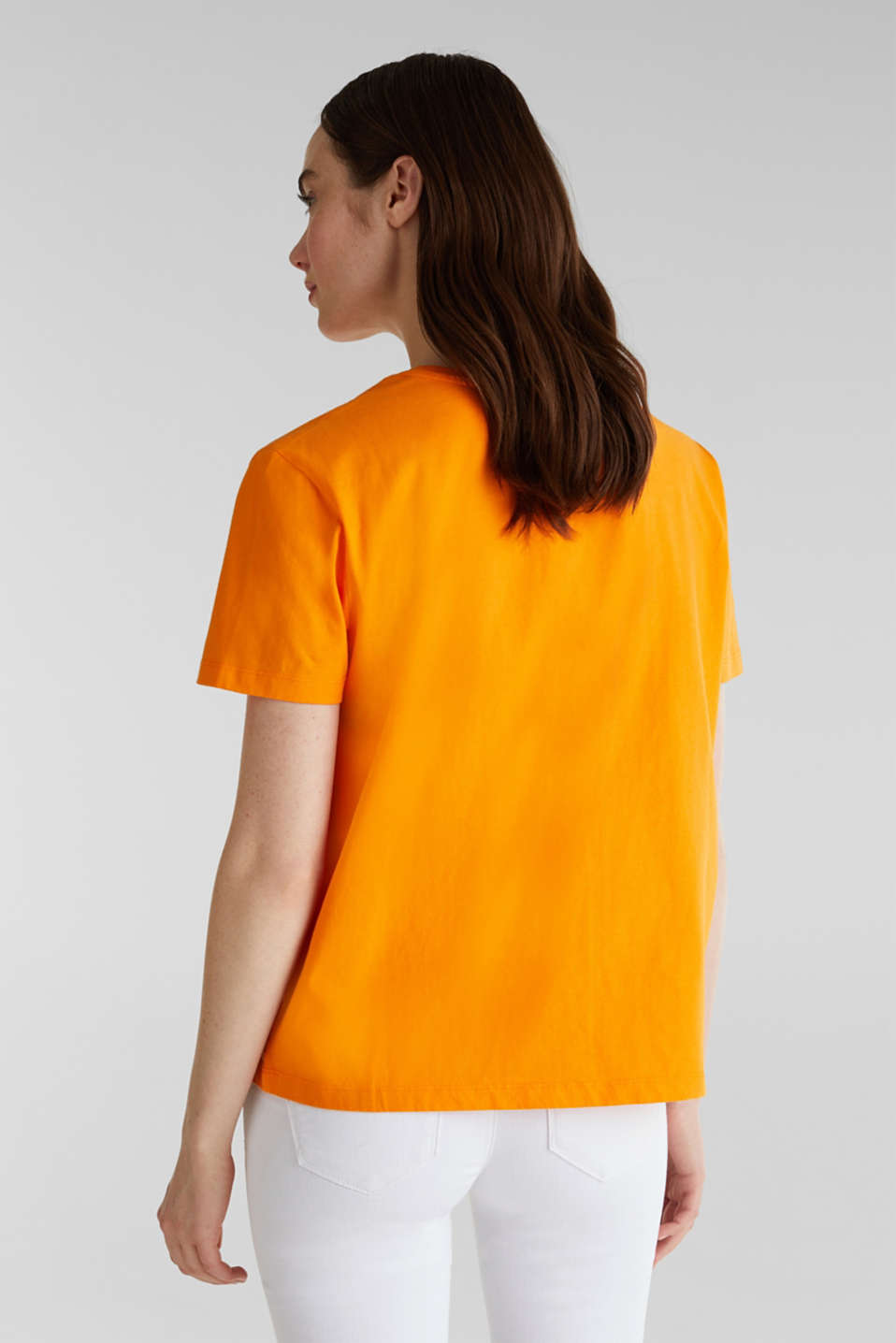 Printed T-shirt in 100% cotton, ORANGE, detail image number 3