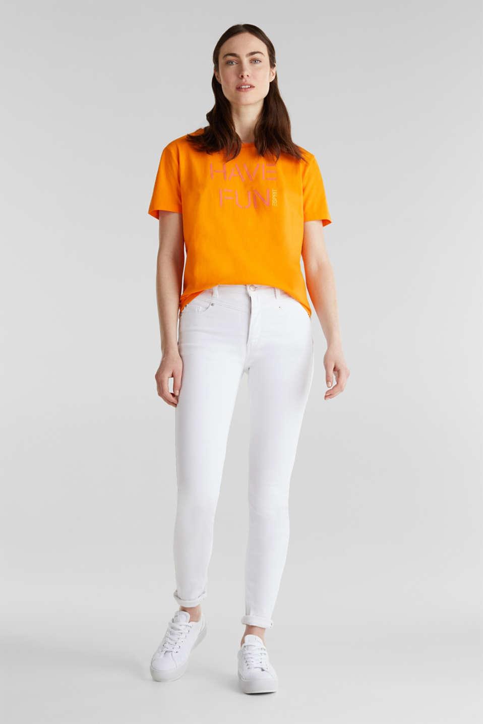 Printed T-shirt in 100% cotton, ORANGE, detail image number 1