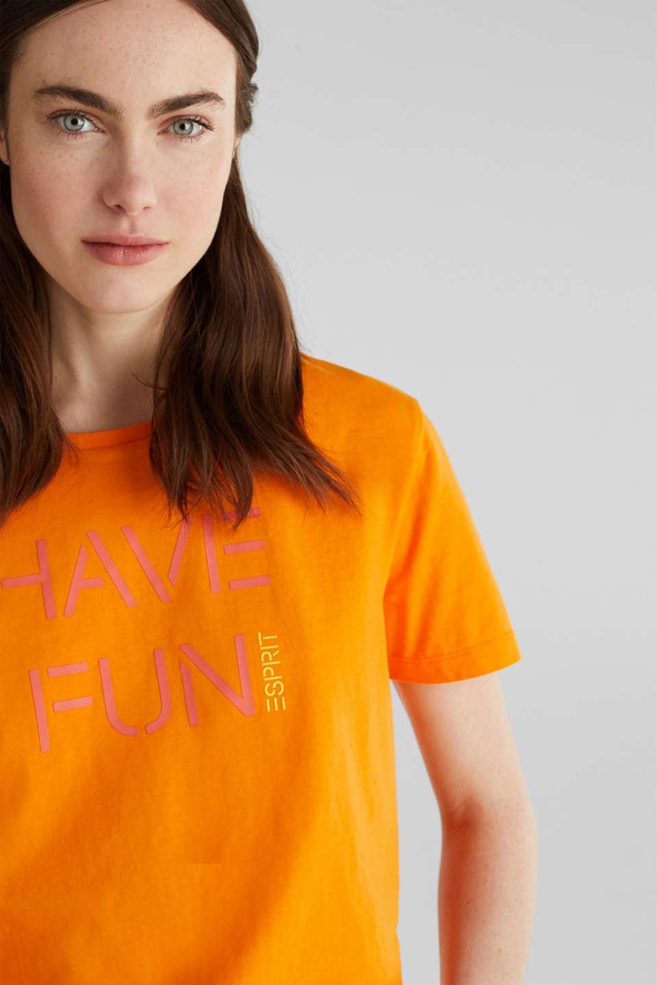 Printed T-shirt in 100% cotton, ORANGE, detail image number 2