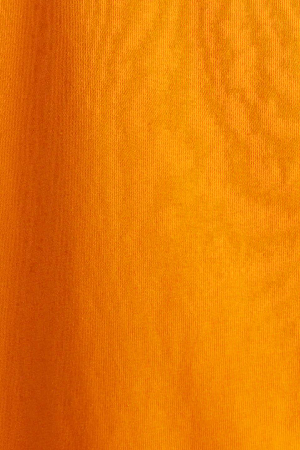 Printed T-shirt in 100% cotton, ORANGE, detail image number 4