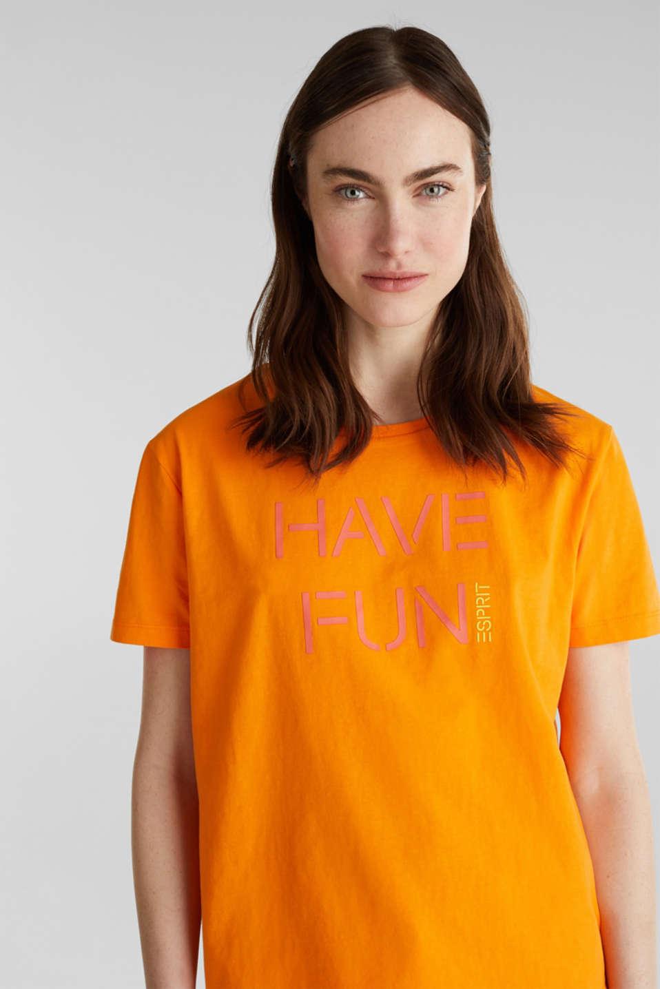 Printed T-shirt in 100% cotton, ORANGE, detail image number 5