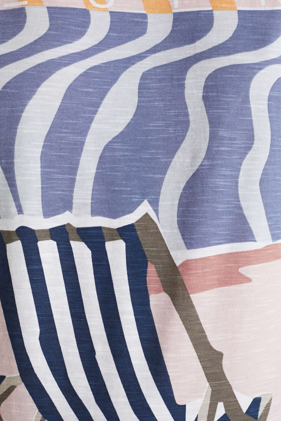 Top with an all-over print, 100% organic cotton, PEACH, detail image number 4