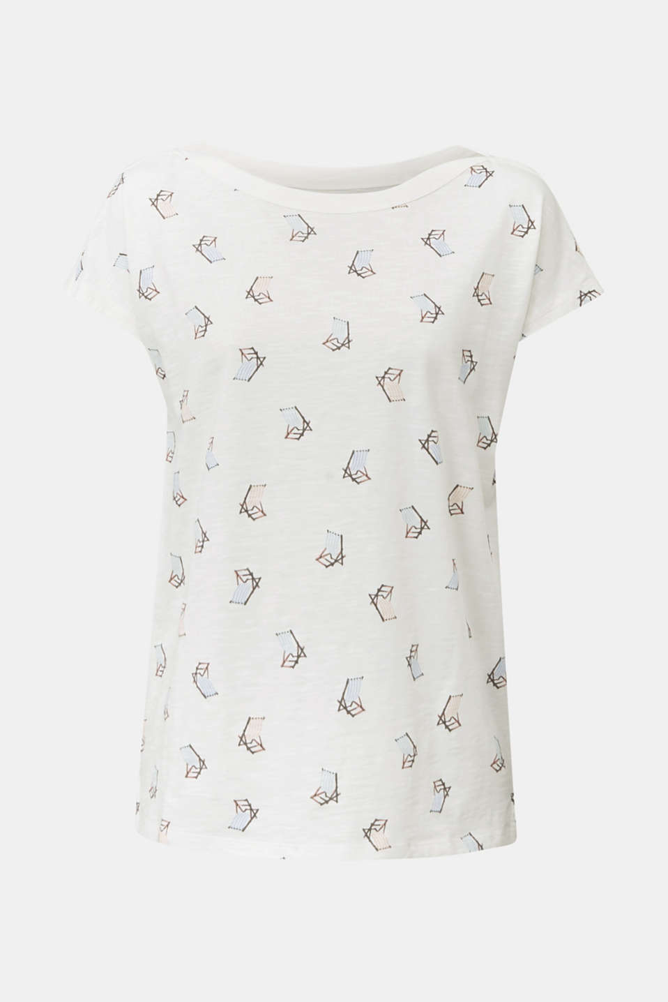 Slub T-shirt with print, 100% organic cotton, OFF WHITE, detail image number 7