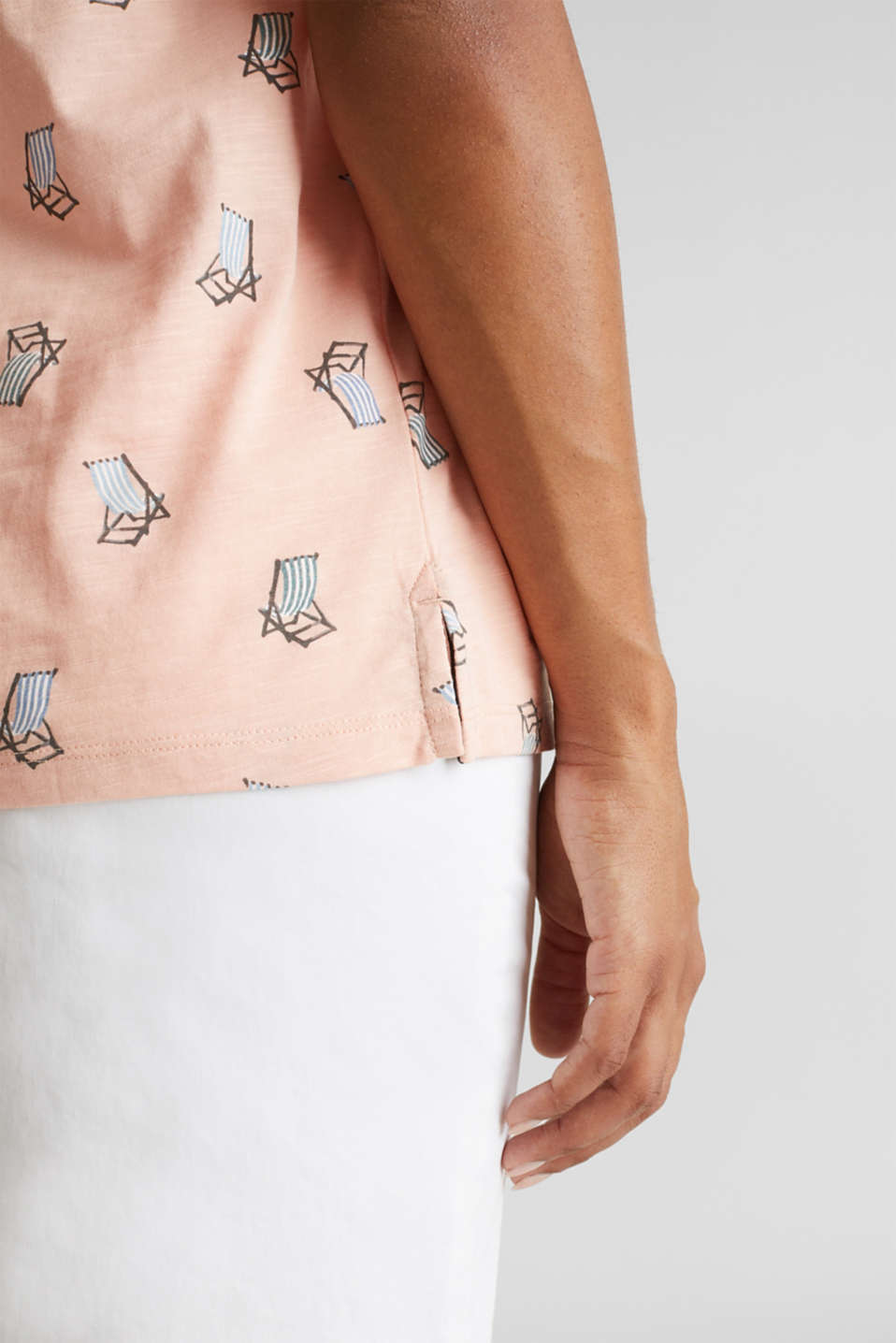 Printed T-shirt in 100% organic cotton, PEACH, detail image number 2
