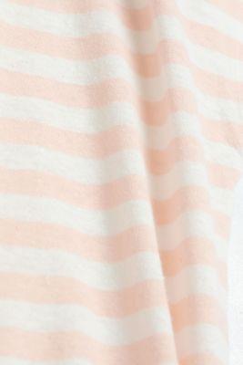Blended linen top with an elasticated waistband, PEACH 4, detail
