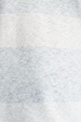 Blended linen: double V-neck T-shirt, LIGHT AQUA GREEN, detail
